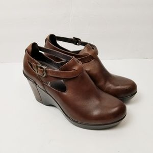 Dansko Franka Brown Wedge Sz 7.5-8